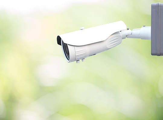 An image of a security camera